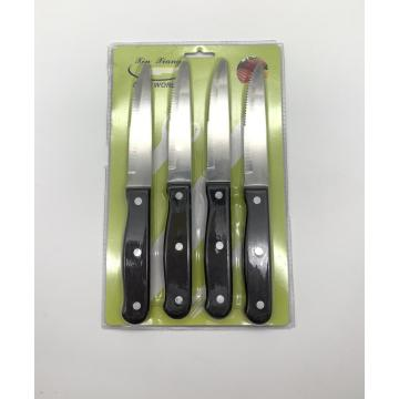 4pcs bakelite handle jumbo steak knife card set