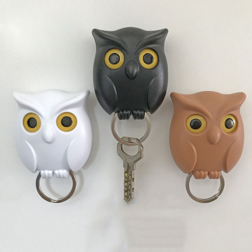 Night Wall Hanging Magnetic Owl Key Holder Magnets Hold Keychain Key Hanger Hook Hanging Key Will Open Eyes