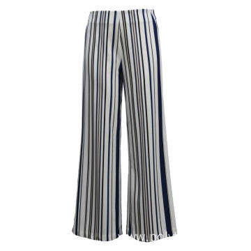 Ladies Pants Knit Trousers Print Ponte
