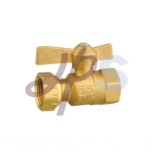 Brass Water Meter Ball Valves For Hdpe Pipe Hb44