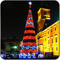 shopping mall outdoor Christmas tree lighting