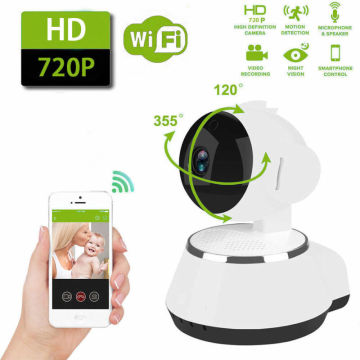 Mini WiFi monitor IP camera smart home security system. With 720P HD resolution Baby Pet Monitor CAMERA