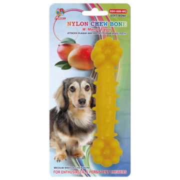 "Percell 6"" Nylon Dog Chew Bone Mango Scent"