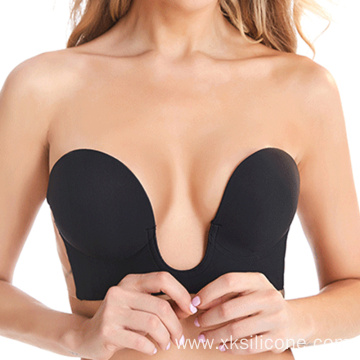 Sexy one piece silicone breast bra invisible