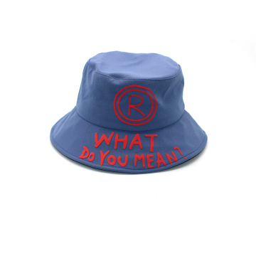 Custom Cotton embroidery Short Bucket Hat patch