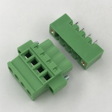 Vertical straight PCB terminal block with locking screw