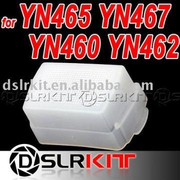 White Plastic Flash Diffuser For YONGNUO YN467 YN465 YN462 YN460 YN460-II