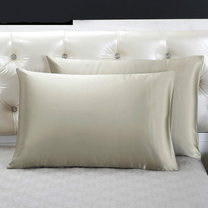 Light Grey Silk Pillowcase