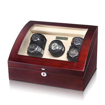 Handmade Mahogany Triple Rotors Watch Winder
