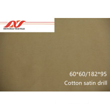 Cotton satin drill 60*60/182*95