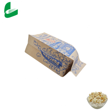 Brown kraft greaseproof paper microwavable popcorn bags