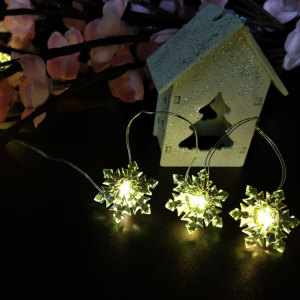 Merry Christmas  led copper light with snowflake