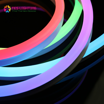 outdoor coloured neon led strip lights waterproof