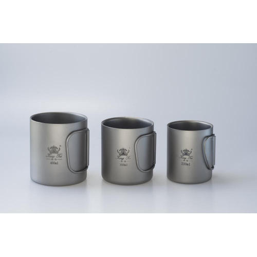 Pure Titanium Water Cup Double