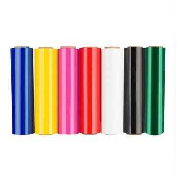 Plastic Roll Colored Stretch Film Black Green Yellow