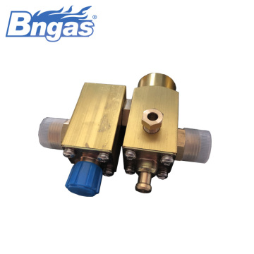 Water heater gas brass big flowrate valve assemblies