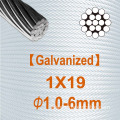 1X19 Dia.1.0mm to 6.0mm Galvanized steel strand