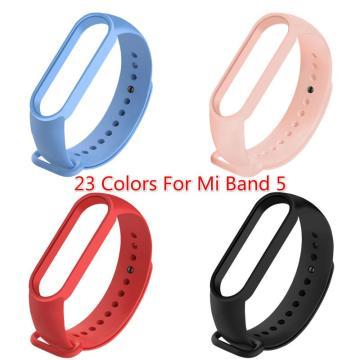 Silicone Strap For Mi Band 5 Wristband Multicolor Replacement Strap For Xiaomi Smart Watch 5 For Mi Watch 5 Accessories TXTB1