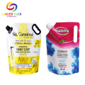 Waterproof Spout Pouch Liquid Packing Bags With Handle