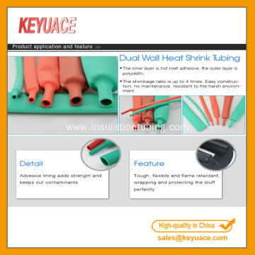 Dual Wall PVC Heat Shrink Tubing with Adhesive
