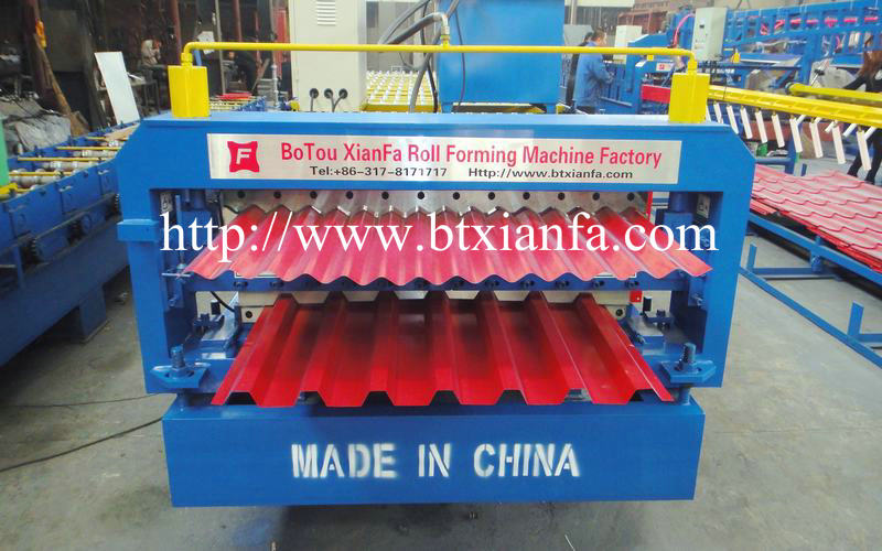 corrugated roof steel sheet machine