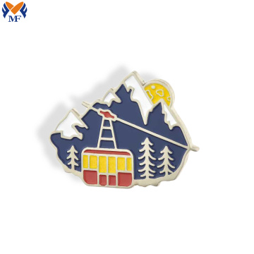 Metal custom enamel brooch lapel pin