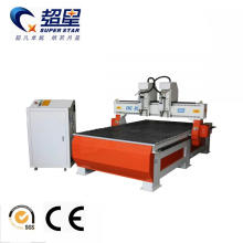 Two heads router cnc woodworking machine