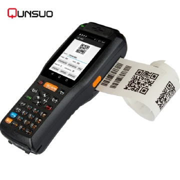 Android 6 portable barcode scanner printer combo PDA