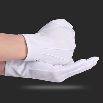 White Parade Safety Cotton Hand Gloves