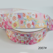 5yards 38/25mm Grosgrain Ribbon Lovely Floral Printed Lace Satin Ribbons for DIY Bow Craft Card Gifts Bouquet Wrapping