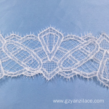 I-White Saree Thin Lace Trim Ribbon