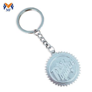 Wholesale metal custom logo coin keychain bezel