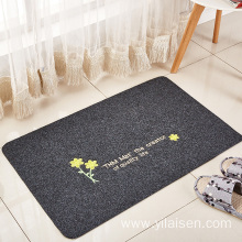 Embroidered washable bathroom  living room door mat