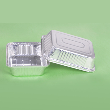 Disposable Silver Aluminum Foil Lunch Box