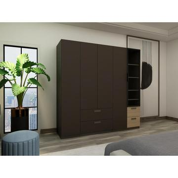 Grey Wooden Melamine Bedroom Wardrobe