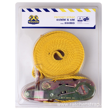 28MM Competitive Price Blister Ratchet tie down with 1 Pack