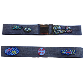Belt pu special embroidered customized patch