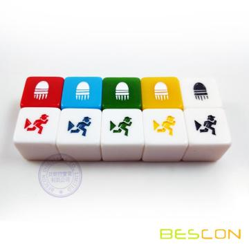 Colorful Custom Engraving Dice Cube in Straight Style