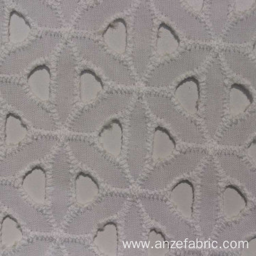 Top algodon organic cotton fabric eyelet embroidery