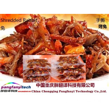 Healthy Nutritional Spicy Tasty  Shredded Barbecued Rabbit