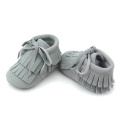 Double Moccasins Tassel Winter Bowknot Baby Boots