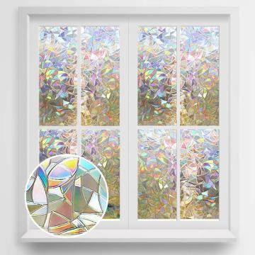Wide 45/60cm 3D Privacy Decorative Glass Sticker Rainbow Effect Sticker Adhesive Vinyl Film on Removable Windows