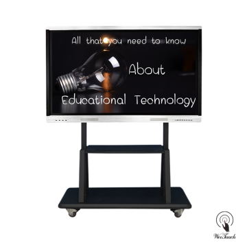 65 Inches Flat Touchscreen Cheap with mobile stand
