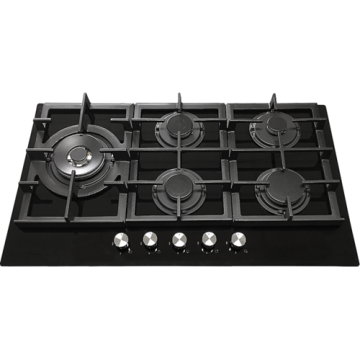 5 Burner Gas Cooktop Glass Top