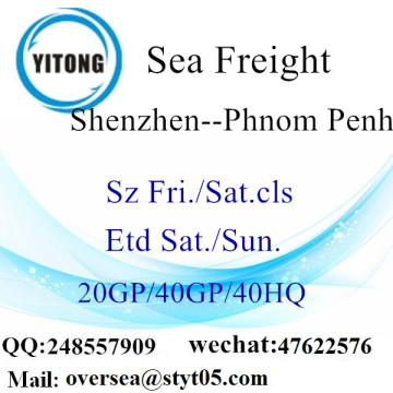 Shenzhen Port Sea Freight Shipping To Phnom Penh