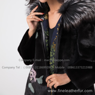 Winter Reversible Mink Fur Coat