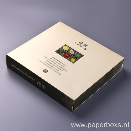 Luxury Cosmetic Gift Packaging Box with White Insert
