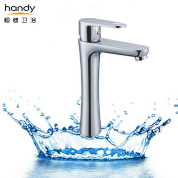 Contemporary Tall basin faucet for vessel sink