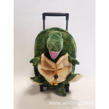 Plush Dinosaur Trolley Bag