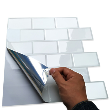 3D Mosaic Peel and Stick Adhesive Wall Tile